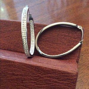 Steel By Design Oval Hoop Earrings
